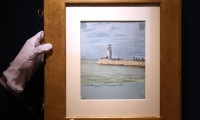 Le Havre, la jetee, by Claude Monet, via Guardian