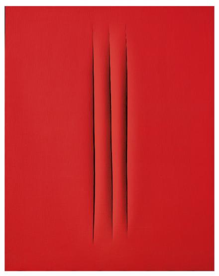 Lucio Fontana, Concetto Spaziale Attese (1967), via Christie's