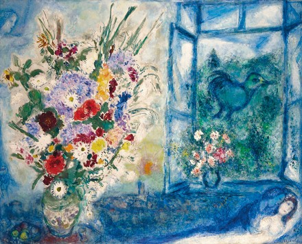 Marc Chagall, Bouquet près de la Fenêtre (1959-60), via Christie's Auction House