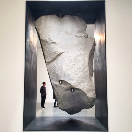 Michael Heizer, Potato Chip (2015), via Art Observed