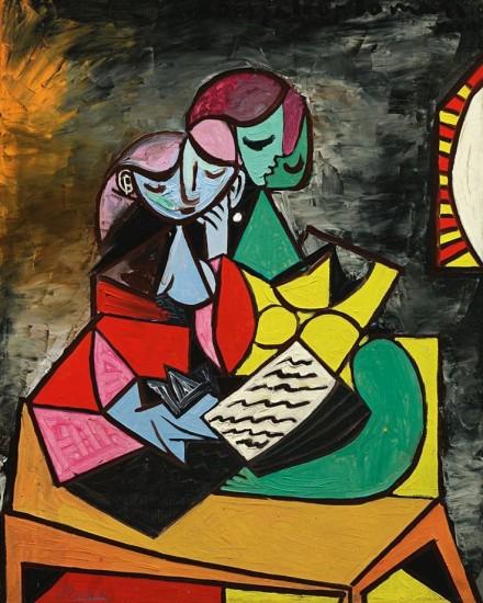 Pablo Picasso, Deux Personnages (La Lecture)(1934), via Sotheby's