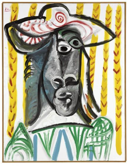 Pablo Picasso, Tête (1969), via Christie's