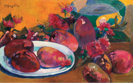 Paul Gauguin, Nature Morte aux Mangos (1891-96), via Sotheby's
