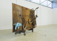 Relief Bleu by Jean Tinguely at the Venet Foundation, via NYT