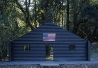 The Cady Noland Log Cabin in Question, via Stonescape