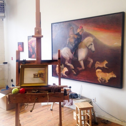 The Studio of David Molesky,  via Art Observed