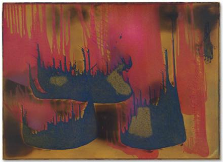 Yves Klein, Peinture de feu couleur sans titre, (FC 27) (1962), via Christie's