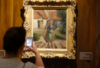 A contested Camille Pissaro in Oklahoma, via Washington Post