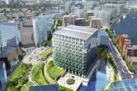 A rendering of Embassy Gardens in London, via Art Newspaper