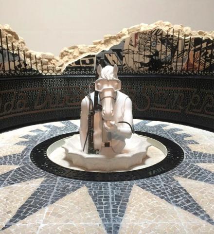 FAILE, FAILE Temple (detail) (2015) via Brooklyn Museum