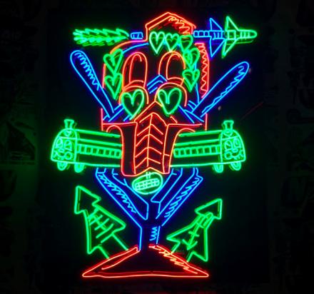 FAILE, The FAILE & BÄST Deluxx Fluxx Arcade (2015) via Art Observed