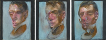 Francis Bacon, Three Studies for Self-Portrait (1980), via Sotheby's