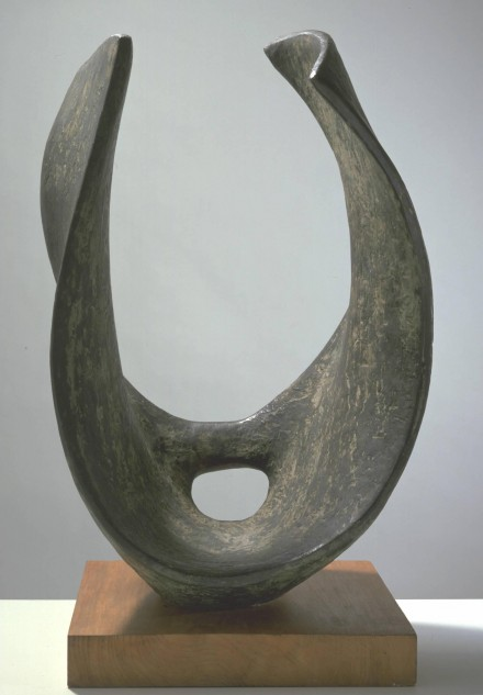 Curved Form (Trevalgan) 1956 by Dame Barbara Hepworth 1903-1975