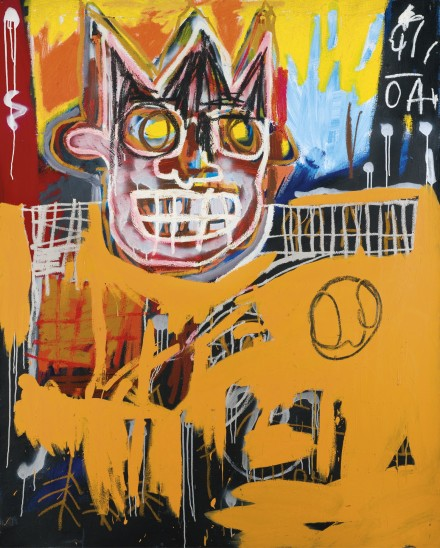 Jean-Michel Basquiat, Orange Sports Figure (1982), via Sotheby's