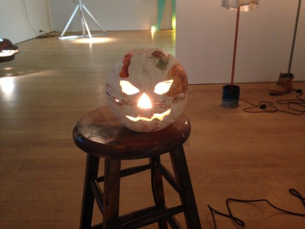 Josh Smith, Illuminated Jackal Lantern Basketball (2015)