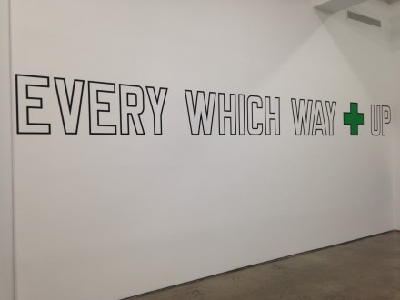 Lawrence Weiner, Every Which Way Up (2010)