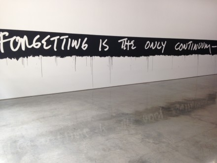 Mel Bochner, Forgetting Is The Only Continuum, 1969-2015