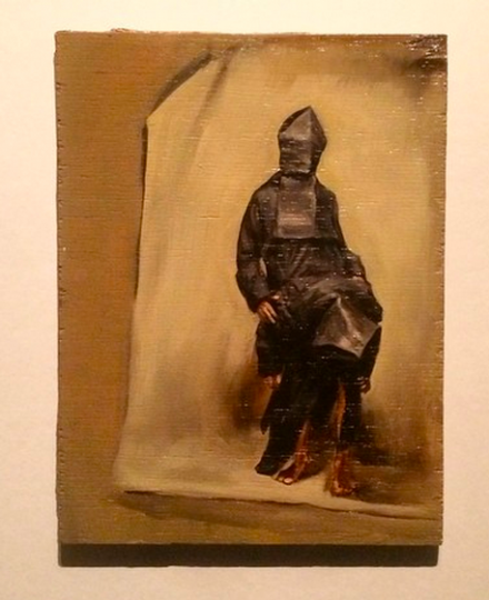 Michael Borremans, Black Mould / Pogo (2015), via Art Observed