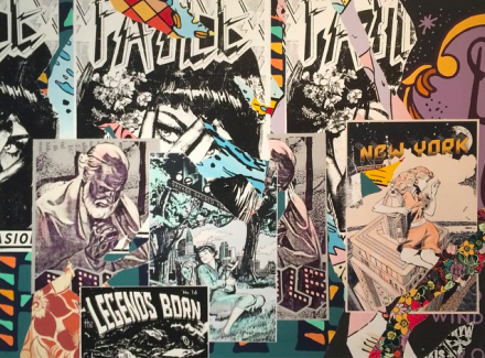 New paintings by FAILE, via Art Observed