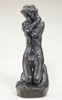 Rodin, Young Woman with Serpent, via CNN