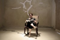 Tania Bruguera during her performance, via New York Times
