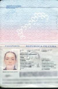 Tania Bruguera's Passport, via Art Newspaper