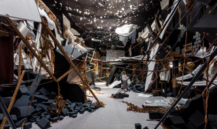 Thomas Hirschhorn, In-Between (2015), Photo by Mark Blower Courtesy of South London Gallery