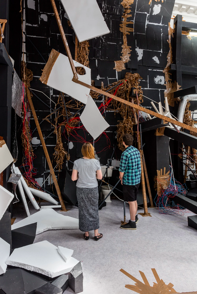 Thomas Hirschhorn, In-Between (Installation View), Photo by Mark Blower Courtesy of South London Gallery