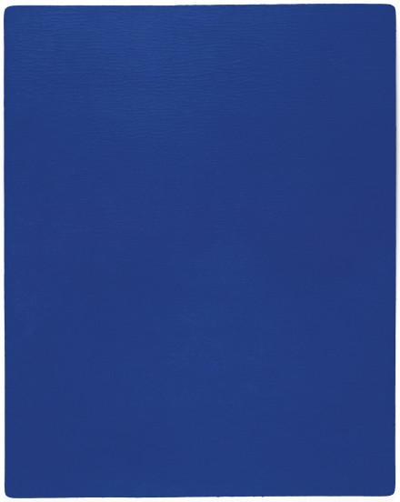 Yves Klein, Untitled Blue Monochrome (IKB 239), via Sotheby's