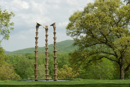 Lynda Benglis, Bounty, Amber Waves, and Fruited Plane (2014) via Storm King Art Center