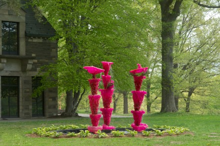 """Lynda Benglis, """"Pink Ladies,"""" """"Pink Ladies (For Asha)"""" (2013-14), via Storm King Art Center"""