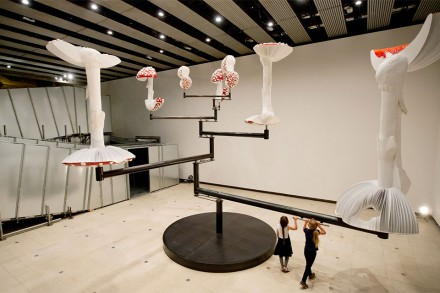 Carsten Höller, Flying Mushrooms, (2015)