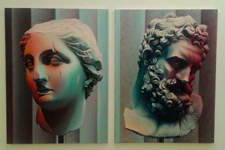 Chason Matthams, Athena and Zeus (Both 2015), via Art Observed