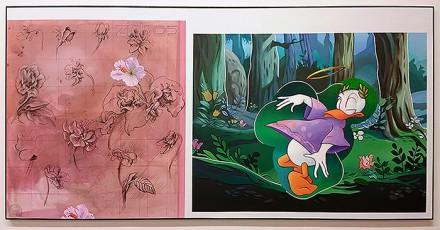 Donald Duck and Leonardo da Vinci's flower study