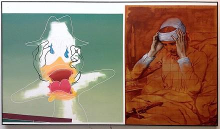 """Daffy Duck with """"The Ecstatic Virgin Anna Katharina Emmerich"""" by Gabriel Von Max"""