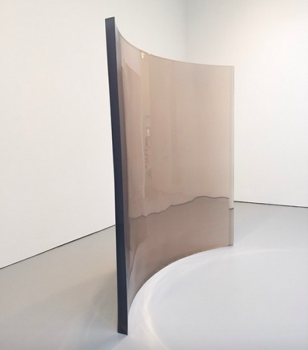 De Wain Valentine, Curved Wall Clear (1969), via Art Observed
