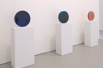 De Wain Valentine, Works from the 1960s and 1970s (Installation View), via Art Observed