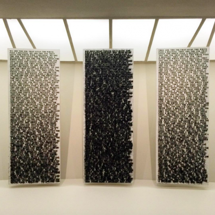 Glenn Ligon, Prisoner of Love (1992), via Art Observed