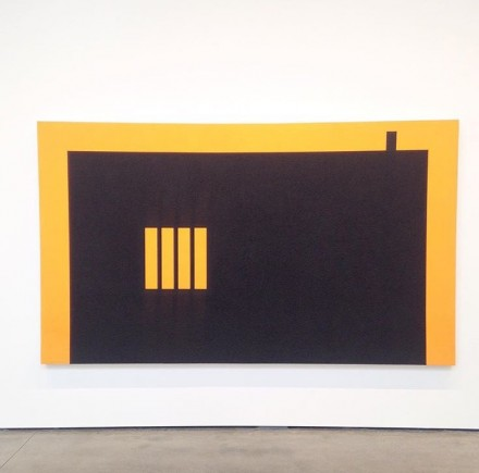Peter Halley, Rectangular Prison with Smokestack (1987)