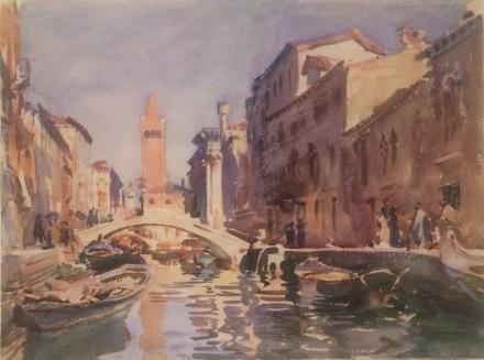 John Singer Sargent, Venetian Canal (1913)