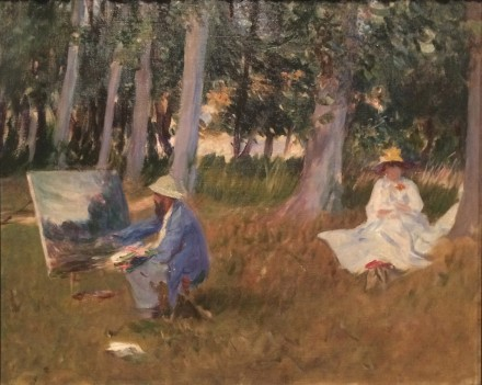 John Singer Sargent, Claude Monet Painting by the Edge of a Wood (1885)