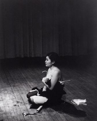 Yoko Ono, Cut Piece (1964), via MoMA