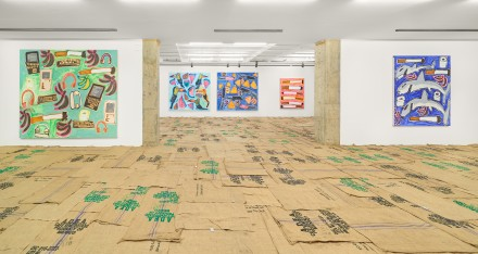 Katherine Bernhardt, Pablo and Efrain (Installation View)