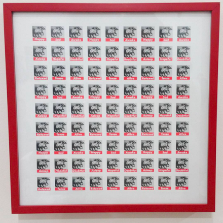 Barbara Kruger Stamps at East of Borneo, via Art Observed