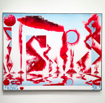 Barnaby Furnas, The First Morning (Scarlet) (2015), via Art Observed