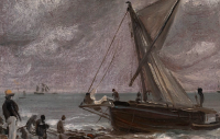 Beaching a Boat, Brighton (detail) by John Constable, via Guardian