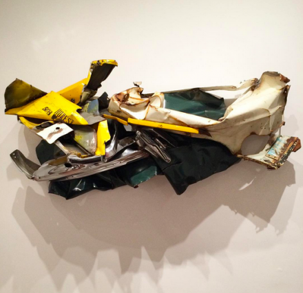 John Chamberlain, Honest 508 (1973-74), via Art Observed