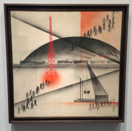 Oskar Nerlinger, The Early Train (1928), via Art Observed