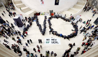 Protest at British Museum, via Guardian