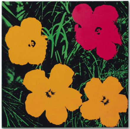 Andy Warhol, Flowers (1964), via Christie's